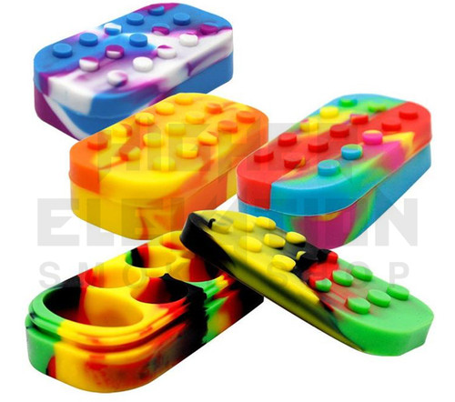 """4"""" Silicone Lego Container - Assorted Colors"""