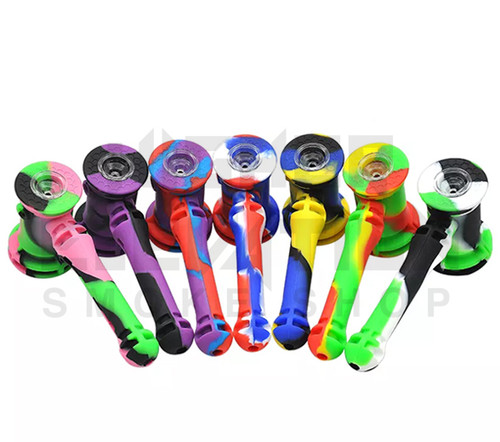"""8"""" Silicone Hammer Bubbler - Assorted Colors"""