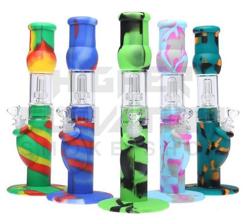 """12"""" Silicone Hybrid Shower Head Water Pipe - Assorted Colors (Out of Stock)"""