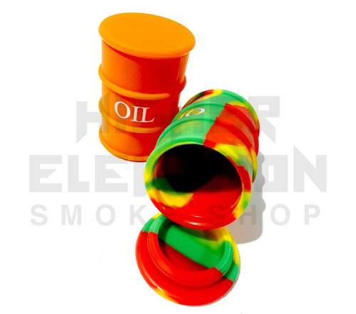 "3"" Oil Barrel Silicone Container - Assorted Colors"