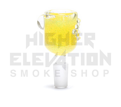 Hitide Glassworks Liquid Filled Glitter Bowl  - Pineapple Express