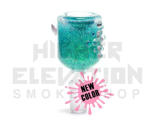 Hitide Glassworks Liquid Filled Glitter Bowl  - Platinum