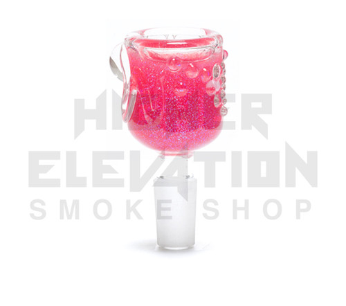 Hitide Glassworks Liquid Filled Glitter Bowl  - Strawberry Cough