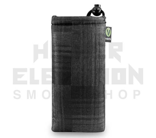 """6.5"""" Drawstring Pipe Bag by Vatra - Black Plaid"""
