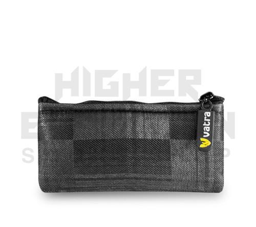 "5.5"" Zip Pipe Bag by Vatra - Black Plaid"