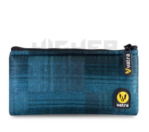"6.5"" Zip Pipe Bag by Vatra - Blue Plaid"