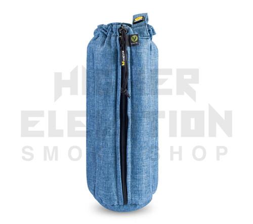 "12"" Zip Waterpipe Tube Bag by Vatra - Blue Woven"