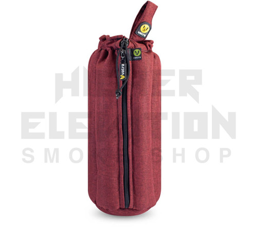 """12"""" Zip Waterpipe Tube Bag by Vatra - Burgundy Woven"""