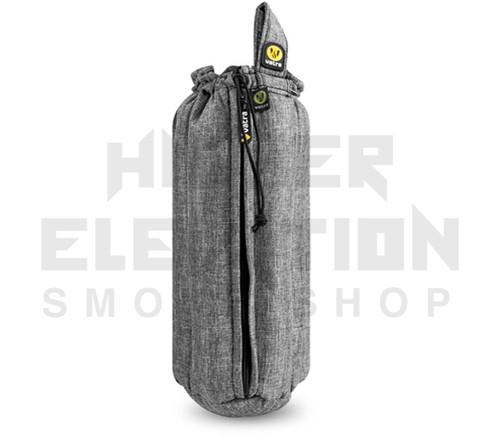 "12"" Zip Waterpipe Tube Bag by Vatra - Gray Woven"