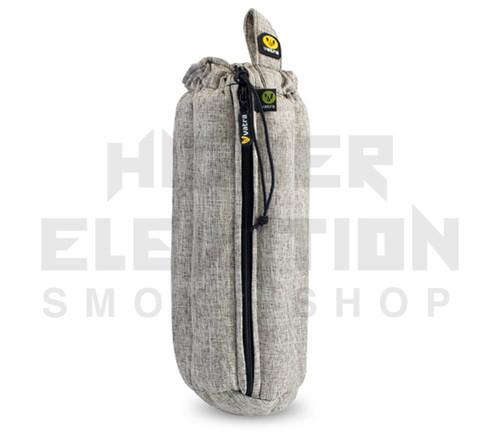 "12"" Zip Waterpipe Tube Bag by Vatra - Khaki Brown Woven"