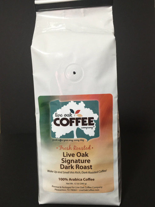 This dark roasted coffee has a hint of chocolate that makes it a great choice with breakfast, on it's own or with dessert.