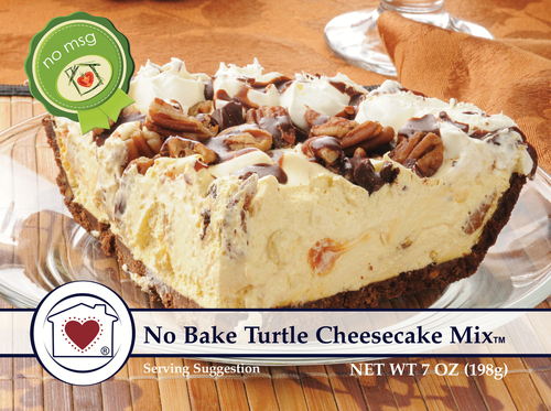 No bake Turtle Cheesecake Mix that you and your guests will love!