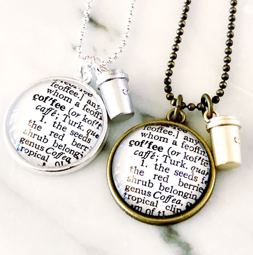 Daisy Mae Designs - Coffee Definition Charm Necklace