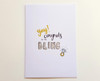 Hand Drawn BLING Ring Engagement Card