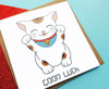 Lucky Cat Good Luck Card