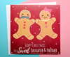 Christmas Card for Daughter and Partner Gingerbread Couple