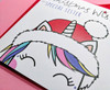 Cute Christmas Unicorn Sister Card