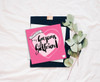 Girlfriend Birthday Card - Pink, Romantic