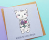 cute cat birthday card handmade