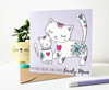 Mummy Birthday Card Cute Cats