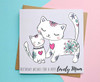 Mum Birthday Card Cute Cats