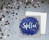 Space Theme Birthday Card Stellar Stars