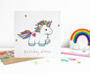 Rainbow Birthday Unicorn Card