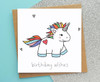 Cute Unicorn Birthday Card