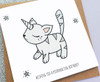 Magical Unicorn Cat Birthday Card