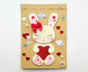 HONEY BUNNY Glitter Hearts Anniversary Card