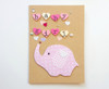 Handmade baby girl card cute elephant