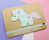 Handmade Personalised Unicorn Card