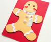 Scandi Scarf Gingerbread Man Handmade Christmas Card
