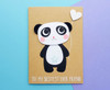 personalised panda birthday card handmade