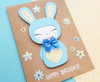 personalised birthday card handmade cute bunny