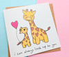 Mummy and Baby Giraffe Mother's Day Card