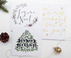 Christmas Cards Pack - Joyeux Noel, Seasons Greetings