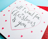 Romantic Christmas Card All I Want Is You