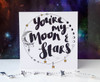 Moon and Stars Quote Valentines Card