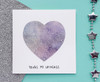 Personalised Handpainted Galaxy Heart Valentine's Card