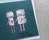 Punny Anniversary Card Cute Robots