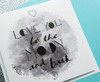 Romantic Card Love You To The Moon and Back