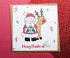 Santa and Rudolph Christmas Card Hand Drawn