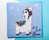 Cute Christmas Llama Card Hand Drawn