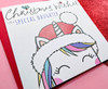 Magical Christmas Card For Daughter Cute Unicorn