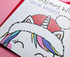 Cute Unicorn Daughter Christmas Card