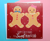Mum and Dad Christmas Card Gingerbread Couple