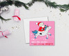 Magical Unicorn and Santa Christmas Card for Daughter