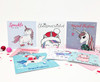 Christmas Unicorns Card Set of 7