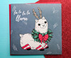 Christmas Llama Card Hand Drawn